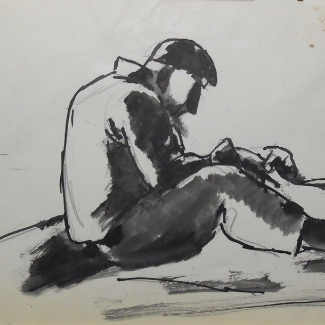 Seated Worker