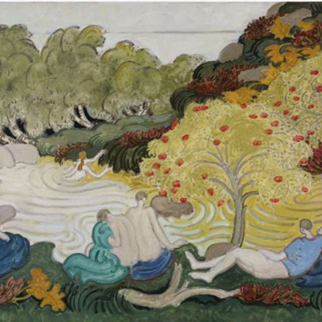 Bathers by a Burn, with Rowan 1989