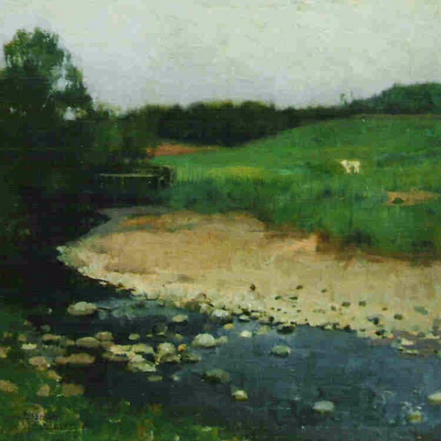 Moniaive, River, Sheep and Figure