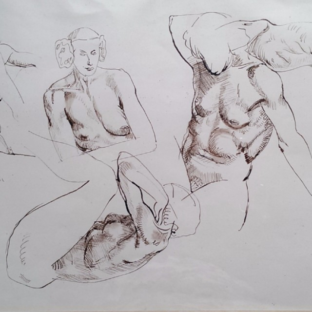 Five Female Nude Studies, 1939