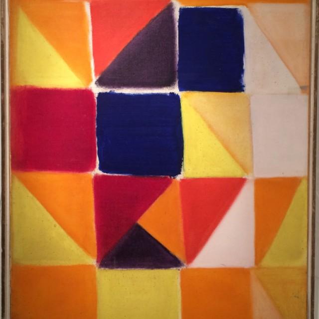Interlocked Forms (Red Blue Purple Orange Yellow White)