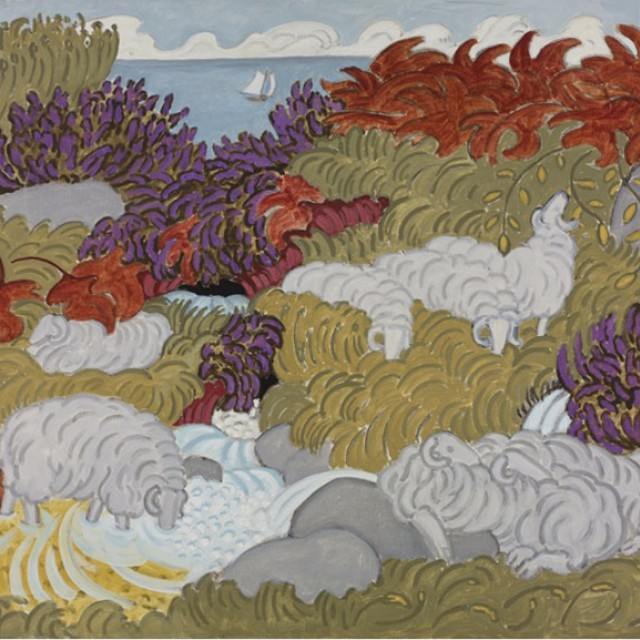 Sheep and Heather 4, 1991