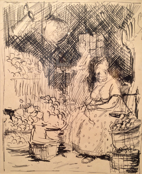 Woman at a Market, The Flower Seller