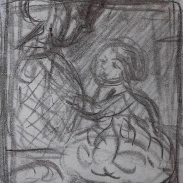Mere et Enfant at a Table