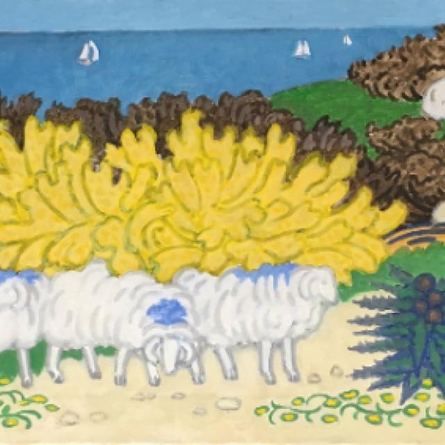 Sheep on a Hillside 1, 1991
