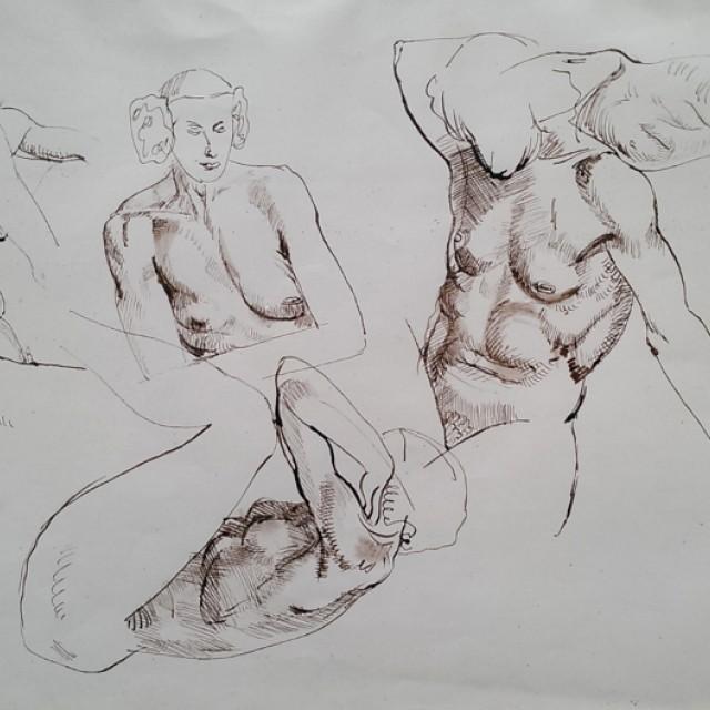 Five Female Nude Studies, 1939