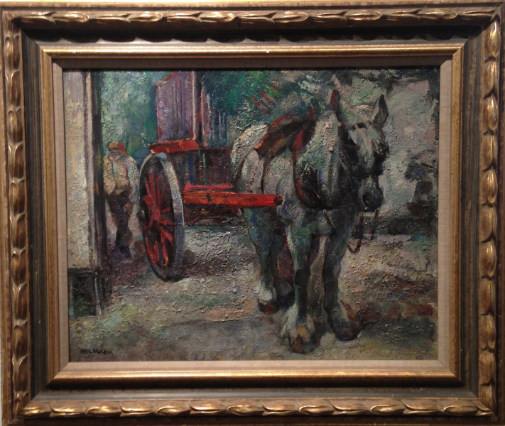 Horse & Worker