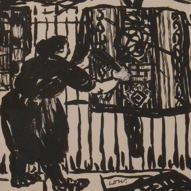 Woman Beating Carpets (2)