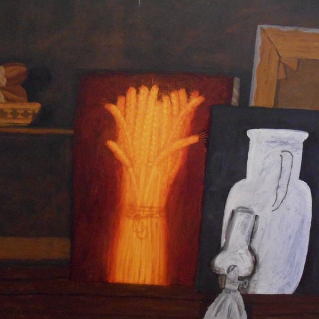 Studio, Wheatsheaf & Oil Lamp c. 1980s