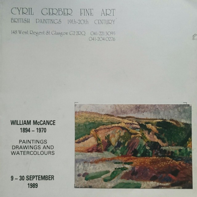 William McCance: Paintings, Drawings and Watercolours