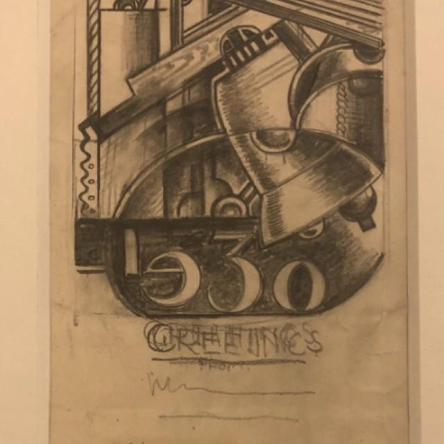 Design b, Christmas Greeting, 1930 - detail