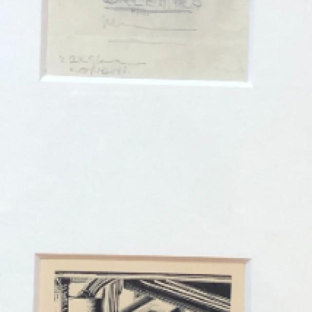Design b, Christmas Greeting, 1930