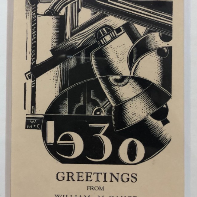 Design b, Cjristmas Greeting, 1930 - detail
