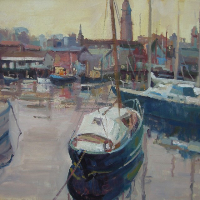 Boats in Harbour, Greenock