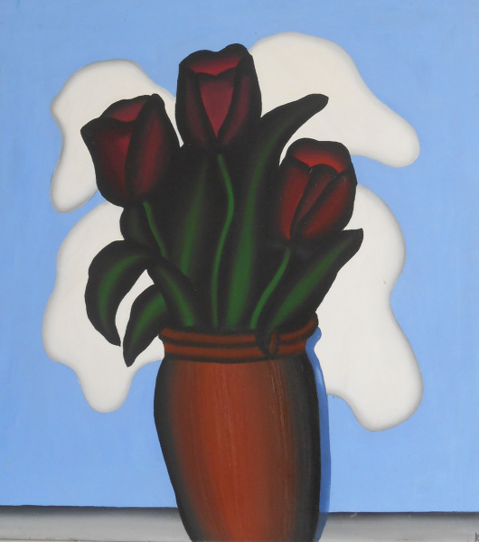 Red Tulips, oil