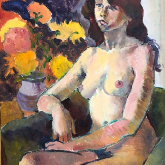 Nude with flowers, 1978
