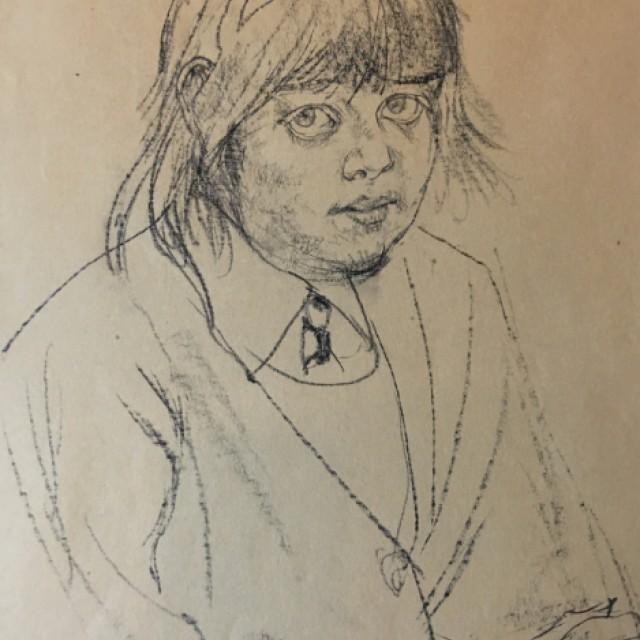 Pensive Girl (Rose), 1971