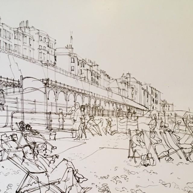 Brighton Beach & Deckchairs 1964