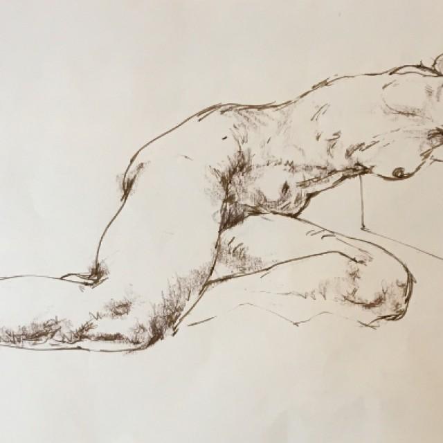 Resting figure on stool, 1978
