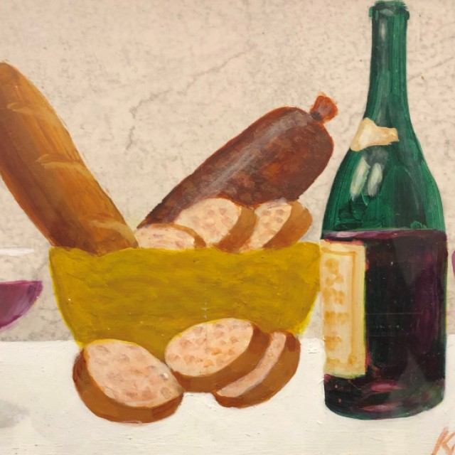 Bread Basket and Wine
